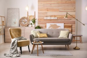 Stylish,Living,Room,Interior,With,Comfortable,Sofa.,Idea,For,Home